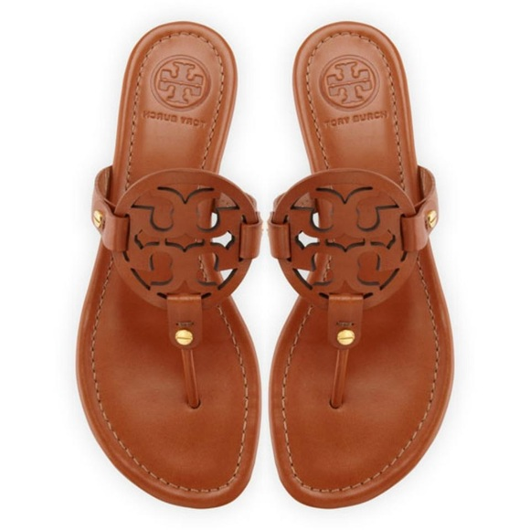 e8298914fe4a8 Tory Burch Miller logo sandal in vintage vachetta.  M 5adbde9da6e3ea2538261f97
